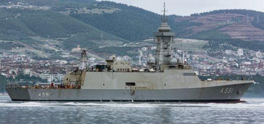 Na zdjęciu przyszły TGC Ufuk, nowy turecki okret wywiadowczy, pływa po Zatoce Izmit 18 lipca. Przechodzi obecnie morskie testy akceptacyjne. / Zdjęcie: Oğuz Eroğuz