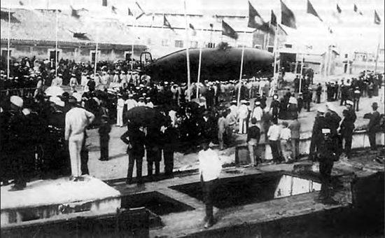 Uroczystość wodowania okrętu podwodnego Perala. Zdjęcie: zbiory Patrick M. MacSherry