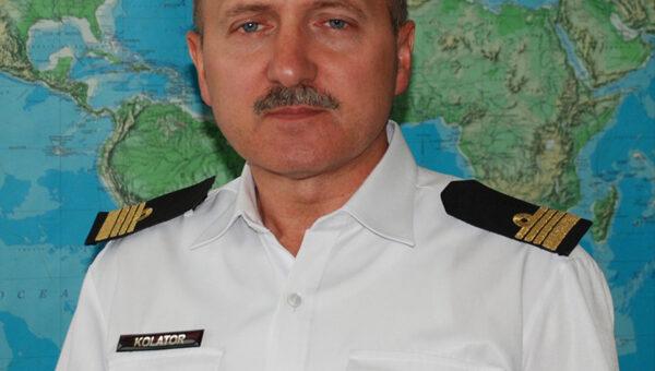 Kmdr Dariusz Kolator dowódca okręty hydrograficznego Marynarki Wojennej RP ORP Arctowski.