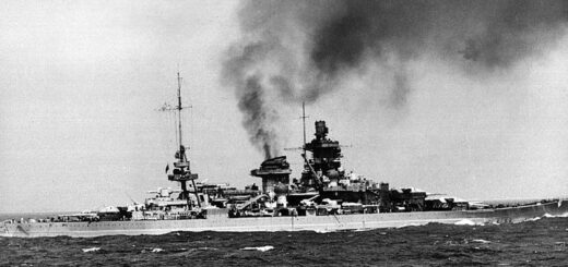 Scharnhorst prawdopodobnie podczas prób w rejonie Brestu w 1941 roku. / Zdjęcie: zbiory Pierre Hervieux