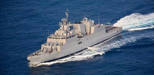Korweta INS Kavaratti Stealth do zwalczania okrętów podwodnych. / Zdjęcie: defencenews.in