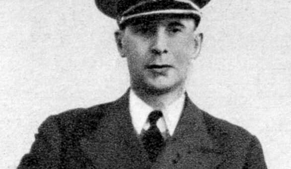 "Dowódca ORP ""Sokół"" kpt. Borys Karnicki"
