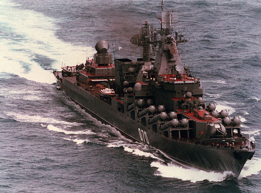 Krążownik  rakietowy Marszałek Ustinow. / Zdjęcie: US Navy