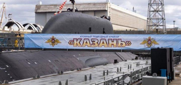 Atomowy okręt podwodny Kazan Yasen-M-class SSGN Project 885M zbudowany w stoczni Sevmash Shipyard w Siewierodwińsku, Rosja. / Zdjęcie: Oleg Kuleshov
