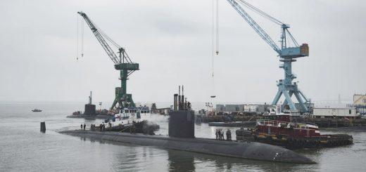 Szturmowy okręt podwodny Boise w stoczni Huntington Ingalls Industries w Newport News w Wirginii w 2018 r. / Zdjęcie: Huntington Ingalls Industries