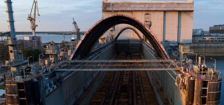 Stocznia Sevmasz, gdzie budowane są rosyjskie okręty podwodne. / Zdjęcie: Siergiej Bobylew/TASS