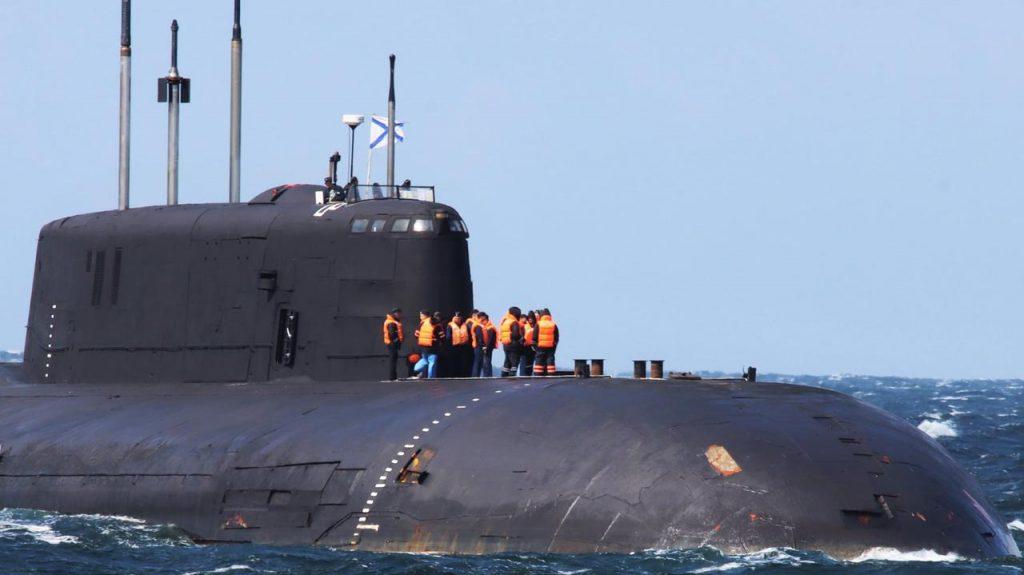 Rosyjski atomowy okręt podwodny Orioł K-266. / Zdjęcie: Facebook/3. Eskadre