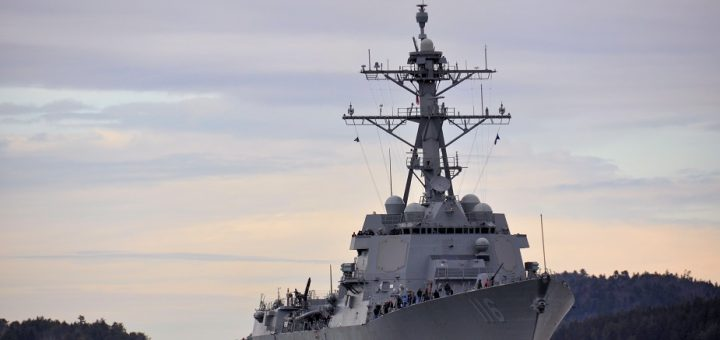Niszczyciel rakietowy USS Thomas Hudner. / Zdjęcie: US Navy